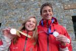 Les jeunes médaillés de la vertical race