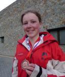 Axelle Mollaret, médaille de bronze junior course individuelle cht du monde 2010